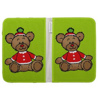 Christmas Santa Claus teddy bear Kindle Folio Case
