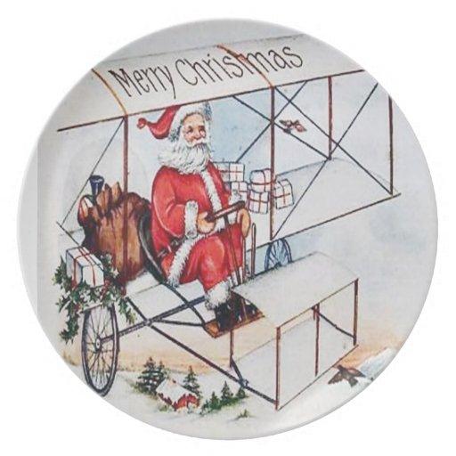 Christmas Santa Claus Vintage Plate