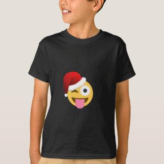 christmas santa claus winking emoji T-Shirt