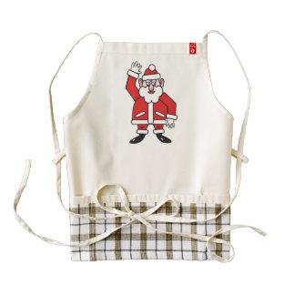 Christmas Santa Claus Zazzle HEART Apron
