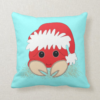 Christmas Santa Crab Pillow