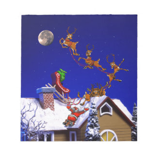 Christmas - Santa crashed on the rooftop Scratch Pad