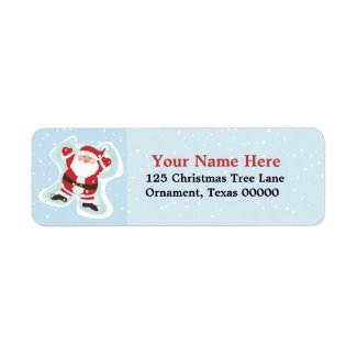 Christmas Santa Custom Return Address Labels label