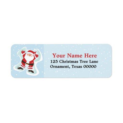 Christmas Santa Custom Return Address Labels