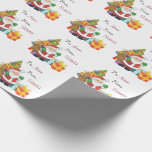 Christmas Santa Custom To And From Name Wrapping Paper at Zazzle
