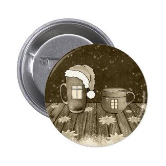 Christmas Santa Digital Art Winter Snow Destiny Pinback Button