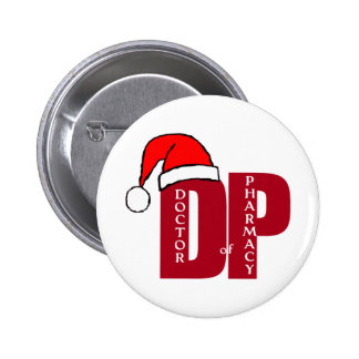CHRISTMAS SANTA DP - DOCTOR OF PHARMACY 2 INCH ROUND BUTTON