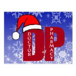 CHRISTMAS SANTA DP - DOCTOR OF PHARMACY POSTCARD