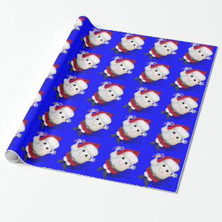Christmas Santa Egg - Eggstrordinary Christmas Wrapping Paper