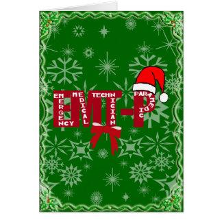 Christmas Santa EMT-P  Paramedic Card
