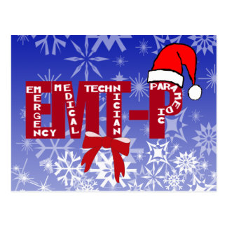 Christmas Santa EMT-P  Paramedic Postcard