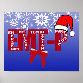 Christmas Santa EMT-P  Paramedic POSTER
