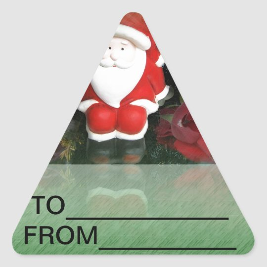 Christmas Santa Faith Love Peace Office Destiny Triangle Sticker