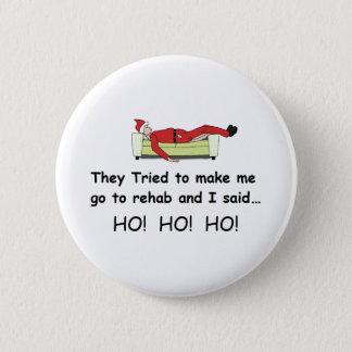 Christmas Santa Funny Pinback Button