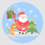 Christmas Santa Gift Tag Stickers