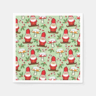Christmas Santa Gnomes Design Paper Napkin