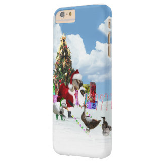 Christmas Santa Goose And Ducks Barely There iPhone 6 Plus Case