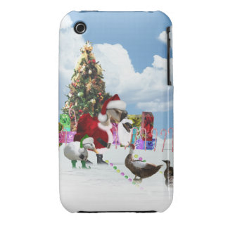 Christmas Santa Goose And Ducks Case-Mate iPhone 3 Cases