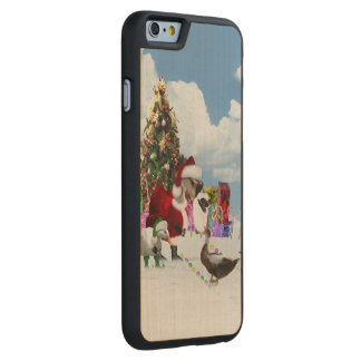 Christmas Santa Goose And Ducks Carved® Maple iPhone 6 Slim Case
