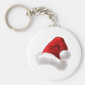 Christmas Santa Hat Art Keychain