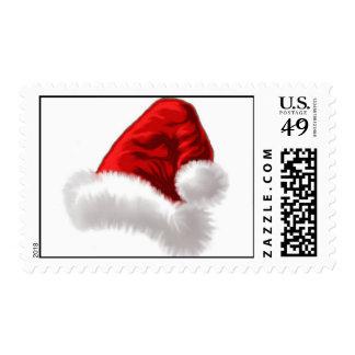 Christmas Santa Hat Art Postage Stamp