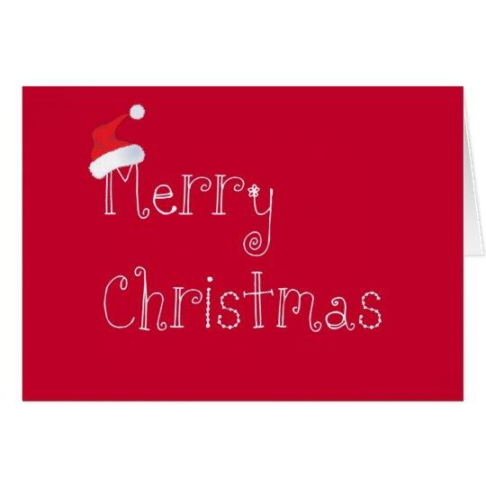 Christmas Santa Hat Card