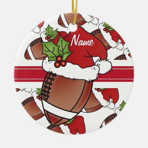 Diy Christmas Name Ornaments: Christmas Santa Hat Football