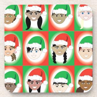 Christmas Santa Hat Kids Drink Coaster