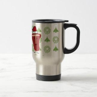 Christmas Santa Hat T-Bone Steak meat protein Travel Mug