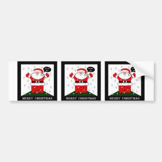 Christmas Santa Ho Ho Ho Bumper Sticker