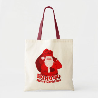 "Christmas Santa ""Ho Ho Ho Merry Christmas"" red bag"