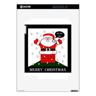 Christmas Santa Ho Ho Ho iPad 2 Skins