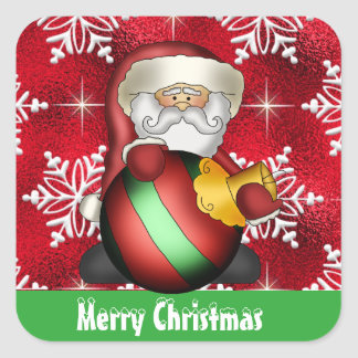 Christmas Santa Holiday cartoon sticker