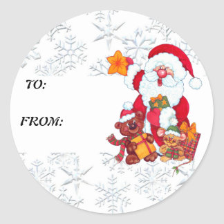 Christmas Santa Holiday Gift Tag
