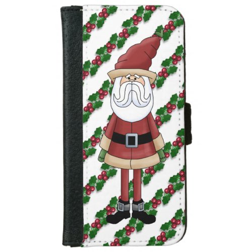 Christmas Santa Holiday iPhone 6 wallet case