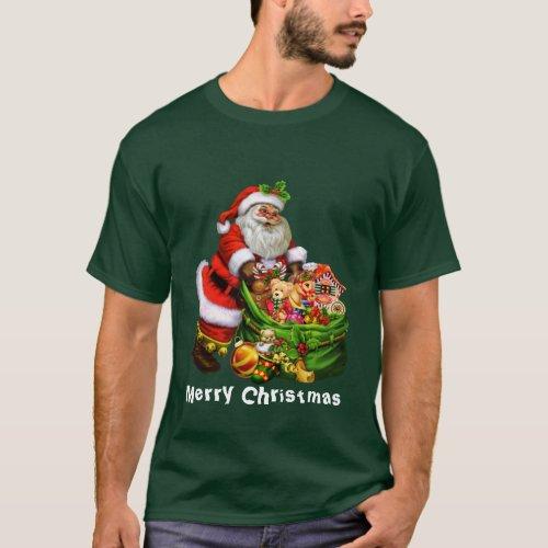Christmas Santa Holiday mens t_shirt