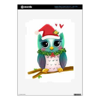 Christmas Santa Holiday Owl Mistletoe Cute iPad 3 Skins
