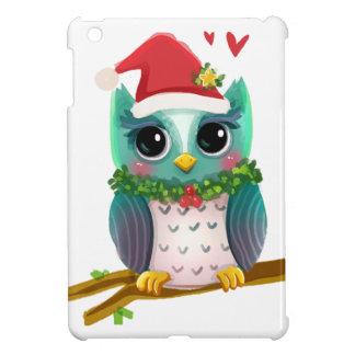 Christmas Santa Holiday Owl Mistletoe Cute iPad Mini Cases