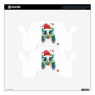 Christmas Santa Holiday Owl Mistletoe Cute PS3 Controller Decal