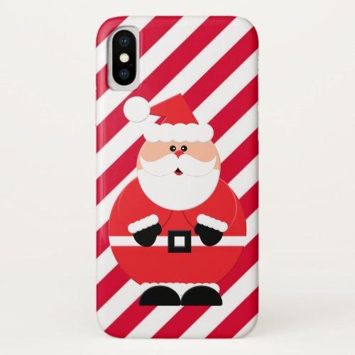 Christmas Santa Holiday stripe ten case