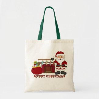 Christmas Santa Holiday tote bag