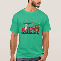 Christmas Santa Holiday Train t-shirt