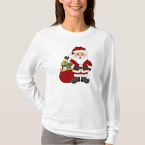 Christmas Santa Holiday Womens t-shirt