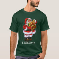 Christmas Santa I Believe Mens t-shirt