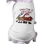 Christmas Santa Is Vegan Dog T-shirt