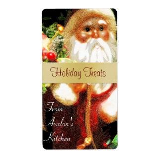 Christmas Santa Kitchen Treat Baking Label