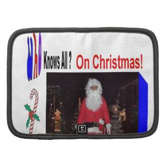 Christmas Santa Knows All Folio Planner