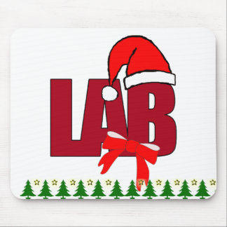 CHRISTMAS SANTA LABORATORY MOUSE PAD