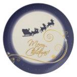 Christmas Santa Night Plates