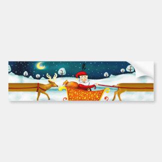 Christmas Santa Oh deer bumpersticker Bumper Stickers